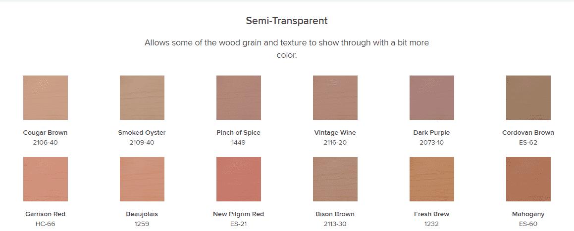 semi-transparent colors